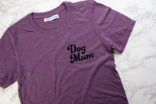 Load image into Gallery viewer, Dog Mum Aubergine t-shirt