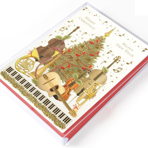 Holiday Tree with Instruments Boxed Cards