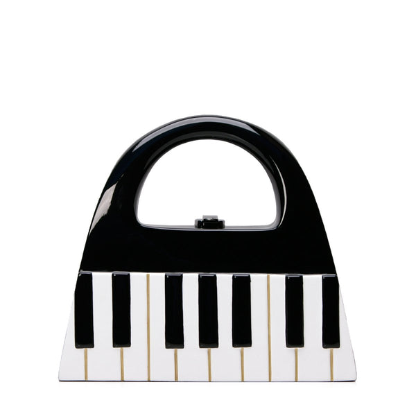 Piano Wooden Handbag