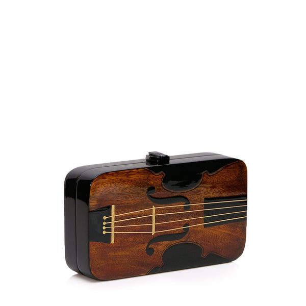 Violin Wooden Handbag