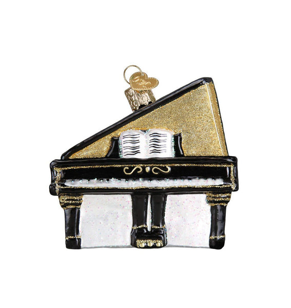 Grand Piano Blown Glass Ornament