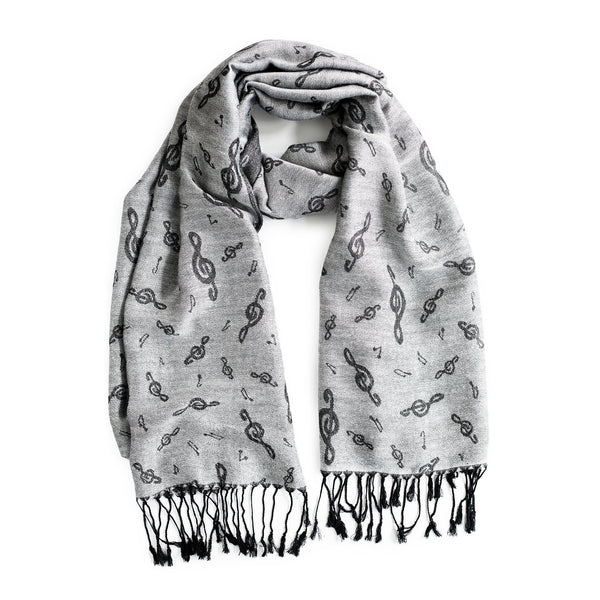Music-Inspired Pashmina - Silver