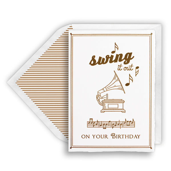 Letterpress Phonograph Happy Birthday