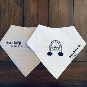 Bandana Bib- 2 Styles available