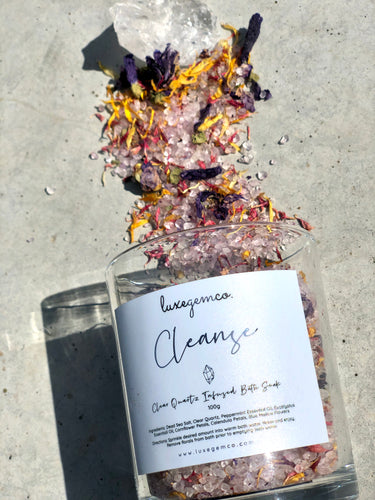 Cleanse Bath Soak - Clear Quartz Infused