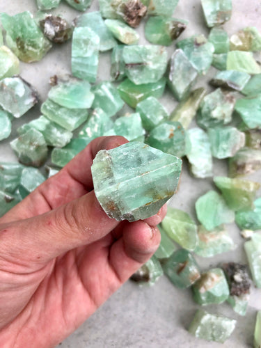 Small Green Calcite Rough Chunk