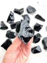 Load image into Gallery viewer, Small Black Obsidian Rough Chunk