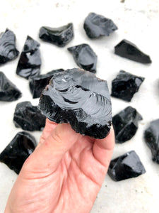 Small Black Obsidian Rough Chunk