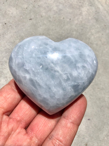 Blue Calcite Heart 004