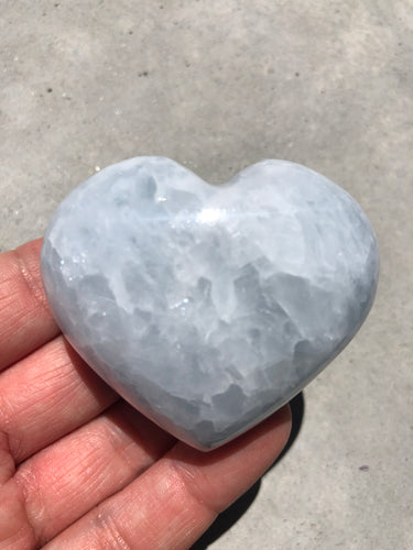 Blue Calcite Heart 006