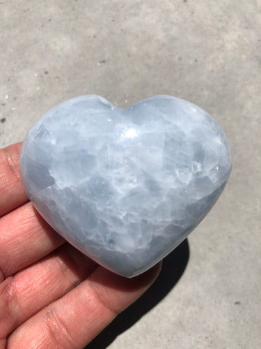 Blue Calcite Heart 007