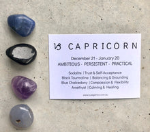 Load image into Gallery viewer, Capricorn Zodiac Crystal Kit