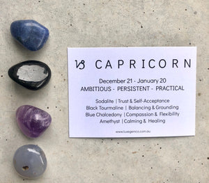 Capricorn Zodiac Crystal Kit