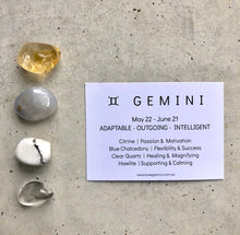 Load image into Gallery viewer, Gemini Zodiac Crystal Kit