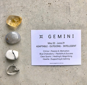 Gemini Zodiac Crystal Kit