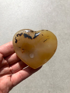 Dendritic Agate Polished Heart 006