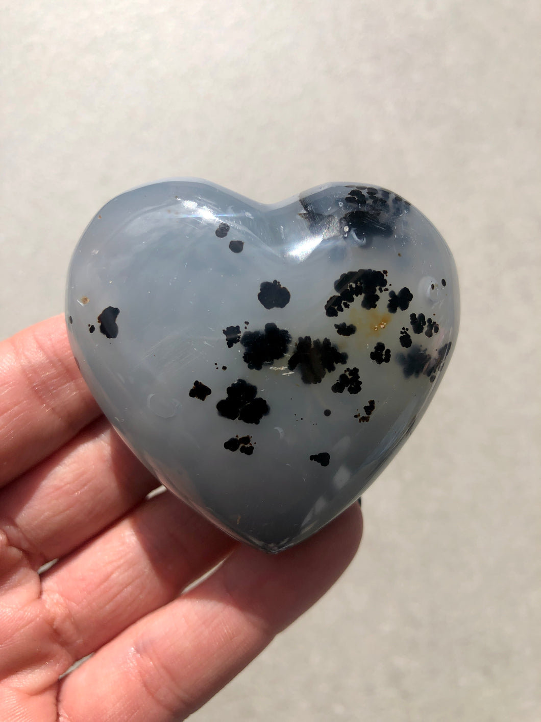 Dendritic Agate Polished Heart 012
