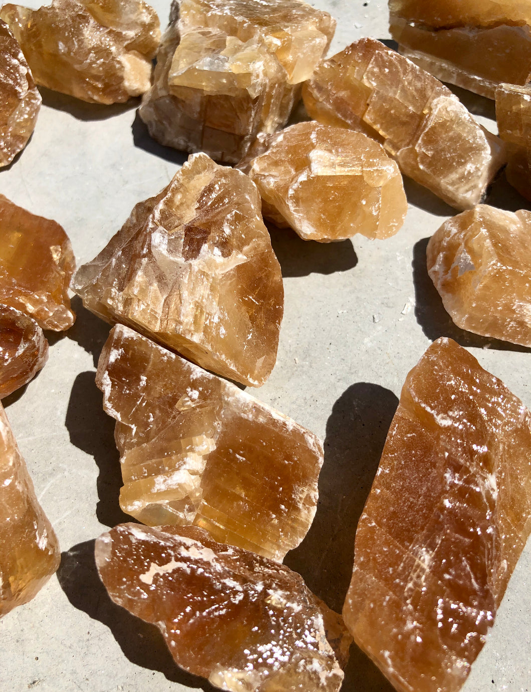 Small Honey Calcite Rough Chunk - Luxe Gem Co.