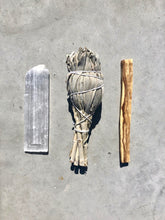 Load image into Gallery viewer, Cleanse Bundle Small - Sage, Selenite & Palo Santo