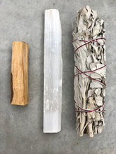 Load image into Gallery viewer, Cleanse Bundle Large - Sage, Selenite & Palo Santo - Luxe Gem Co.