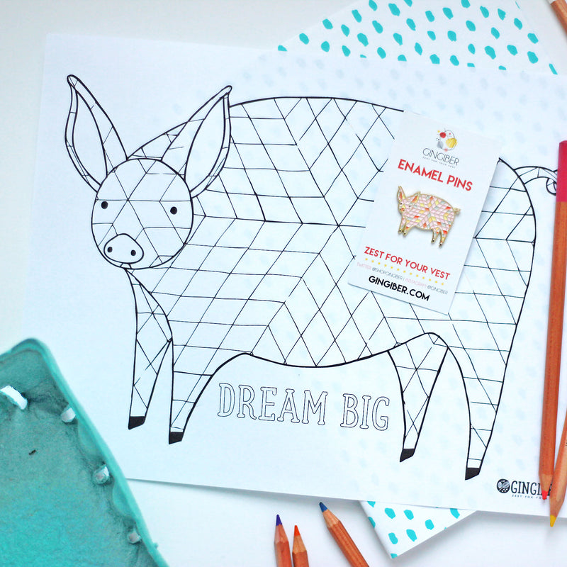 Free Printable Pig Coloring Page