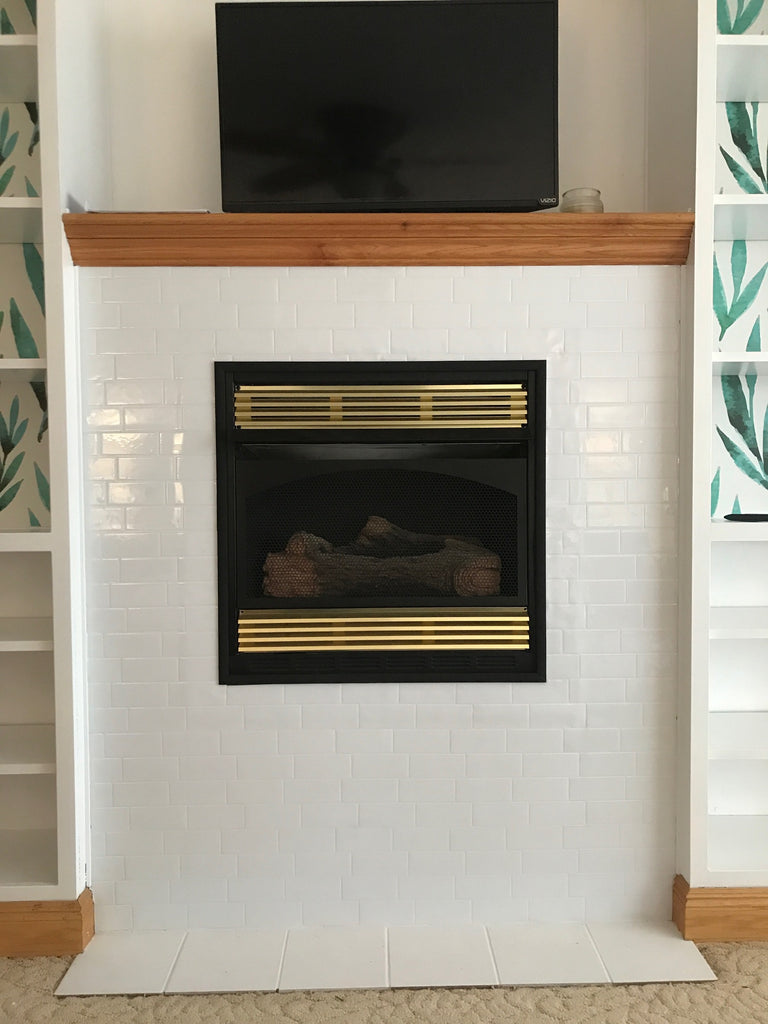 After! The Smart Tile Fireplace Makeover