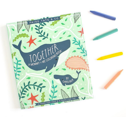 Together Mommy and Me Coloring Book by Gingiber