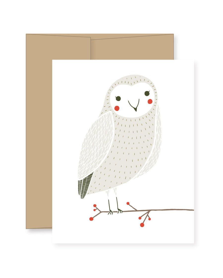 Merriment Snow Owl Card