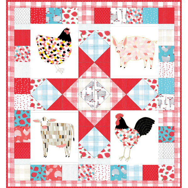 Farm Fresh Panel Quilt Pattern - PDF VERSION