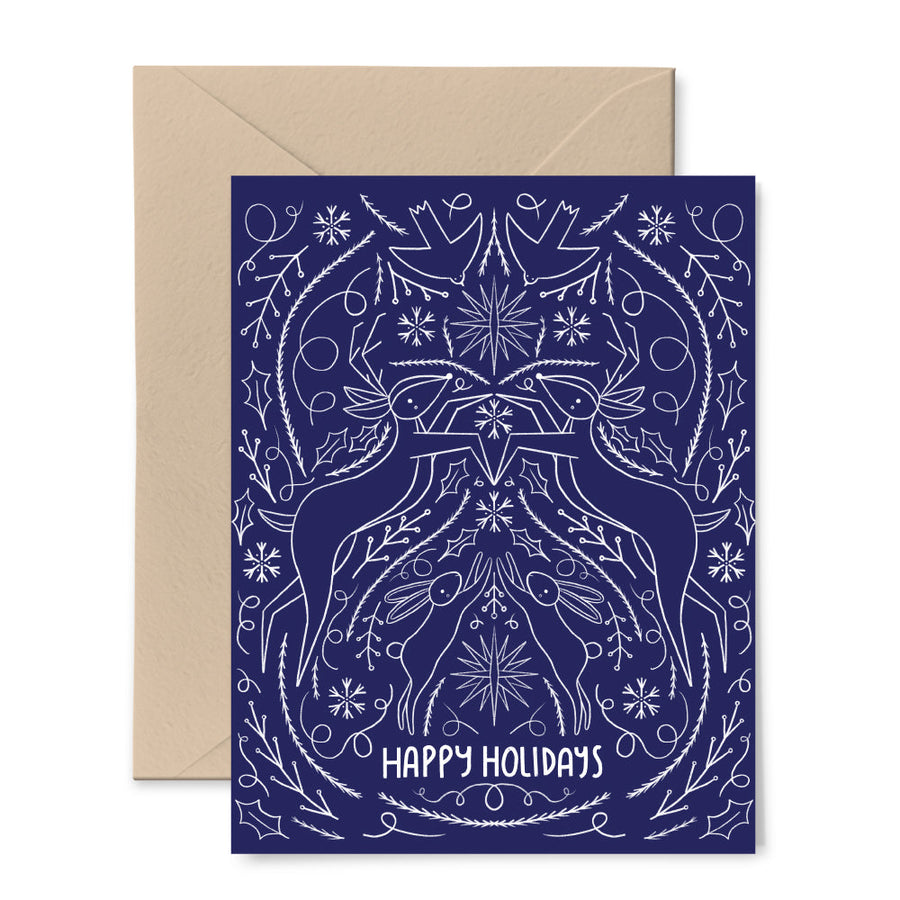 Scandinavian Holiday Blue Card