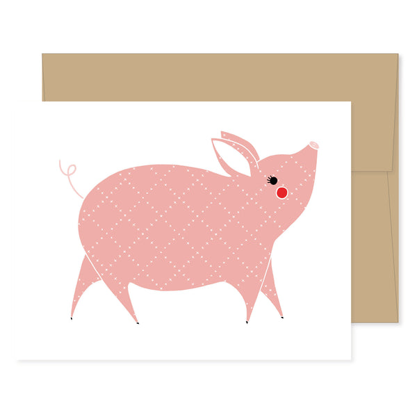 Farm Charm Piggy Card