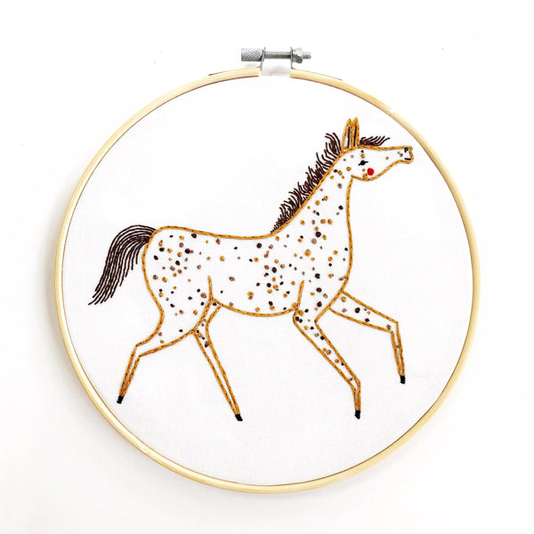 Farm Charm Pony Embroidery Pattern PDF Download