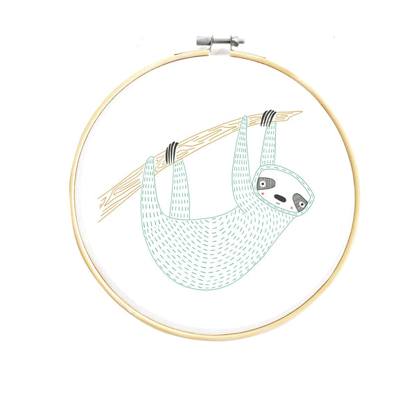 Zoology Sloth Embroidery Pattern PDF Download