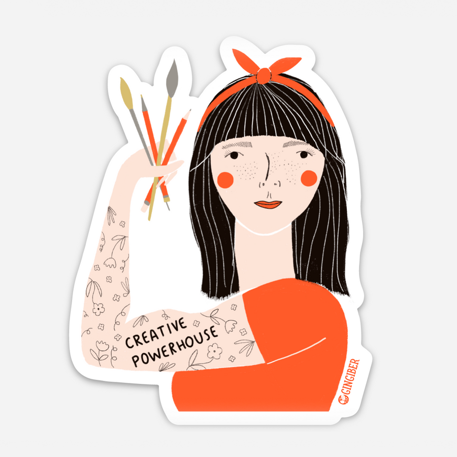 Creative Powerhouse Red Headband Sticker