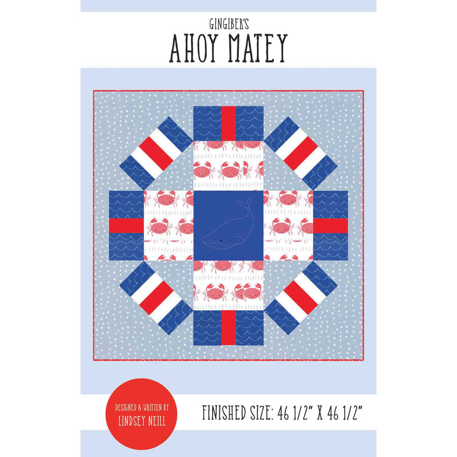 Ahoy Matey Quilt Pattern - PDF VERSION