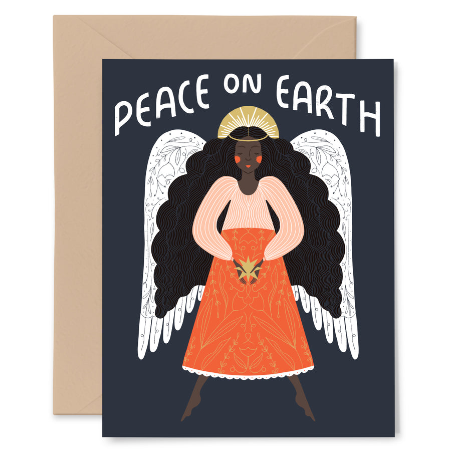 Peace On Earth Angel Card