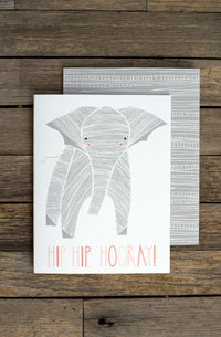 Hip Hip Hooray Baby Elephant Card