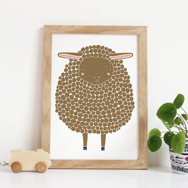 Brown Sheep Art Print