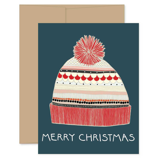 Merry Christmas Winter Hat Card