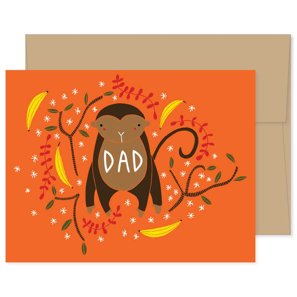 Dad Monkey Card