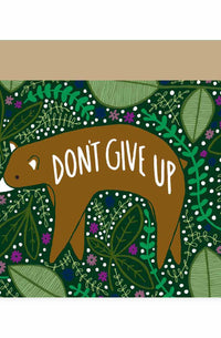 Don't Give Up Bear Card