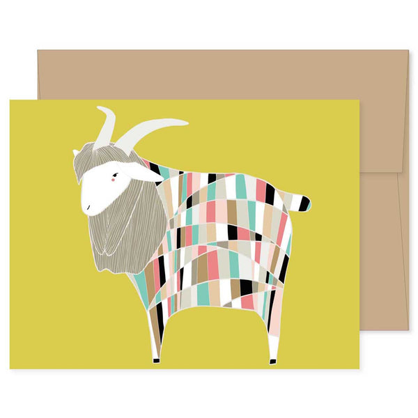 Technicolored Dream Goat Card