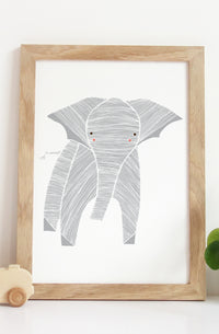 Safari Elephant Art Print