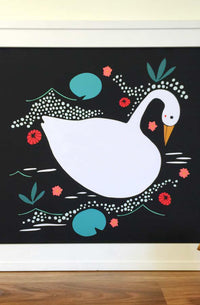 Enchanted Swan Art Print