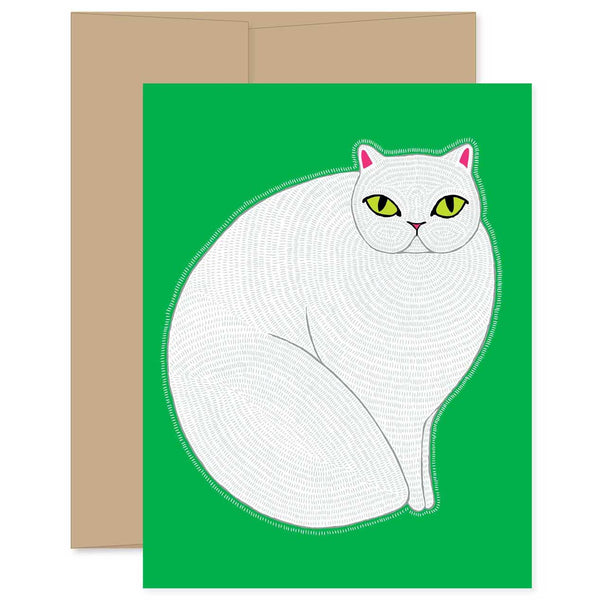 White Cat Card