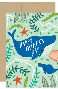 Father's Day Whale Card