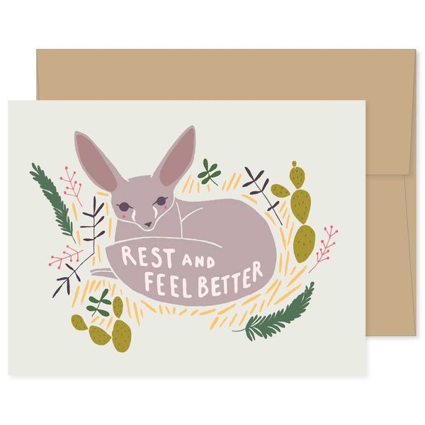 Feel Better Fennec Fox Card