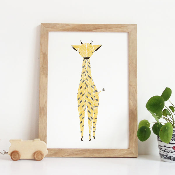 Safari Giraffe Art Print