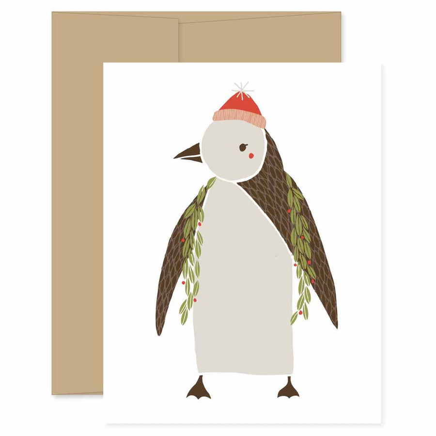 Merrily Penguin Card