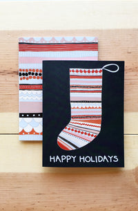 Happy Holidays Christmas Stocking Card